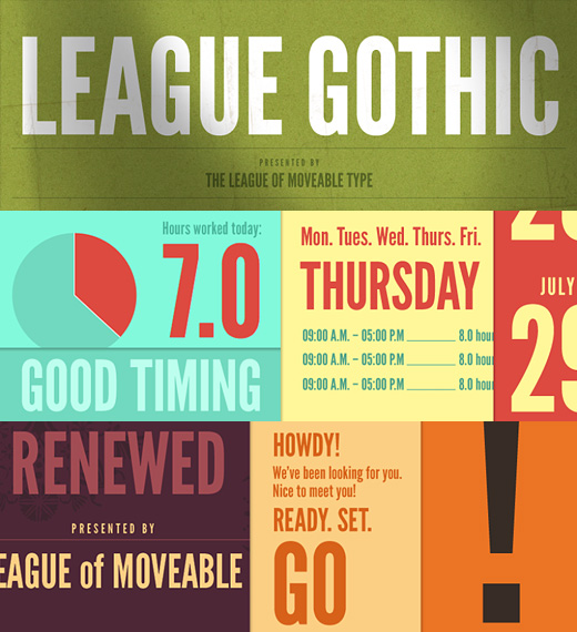 League Gothic is a revival of an old classic, and one of our favorite ...