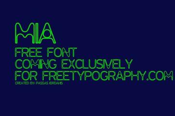 MIA-free-font