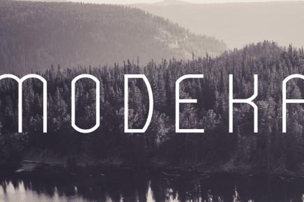 Free Font: Modeka