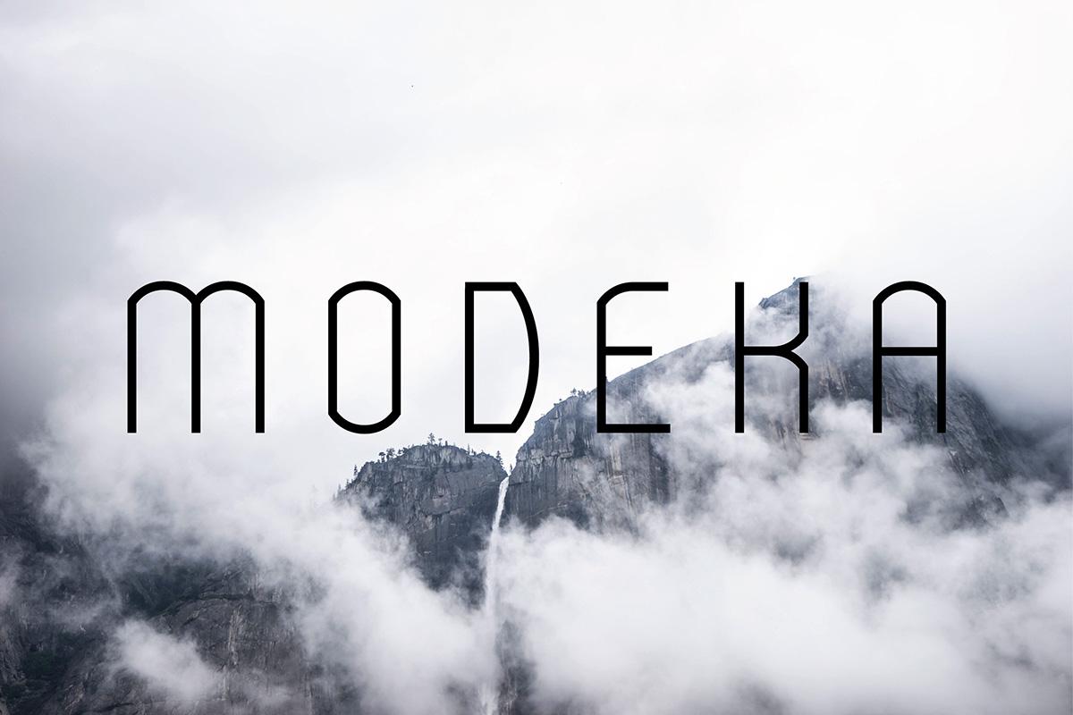 modeka-free-font-typography