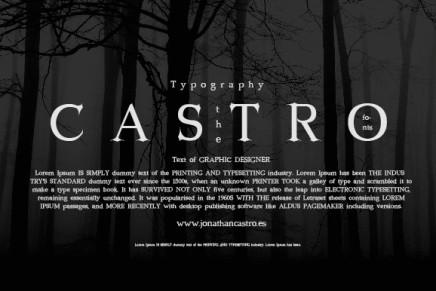 Free Font: Castro
