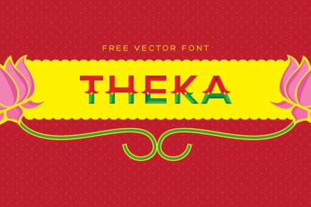 Free Font: Theka
