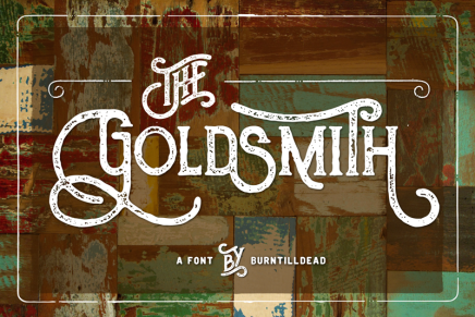 Free Font: The Goldsmith