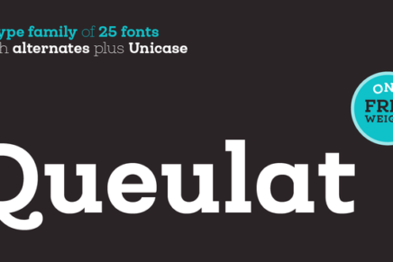 Free Font: Queulat Regular