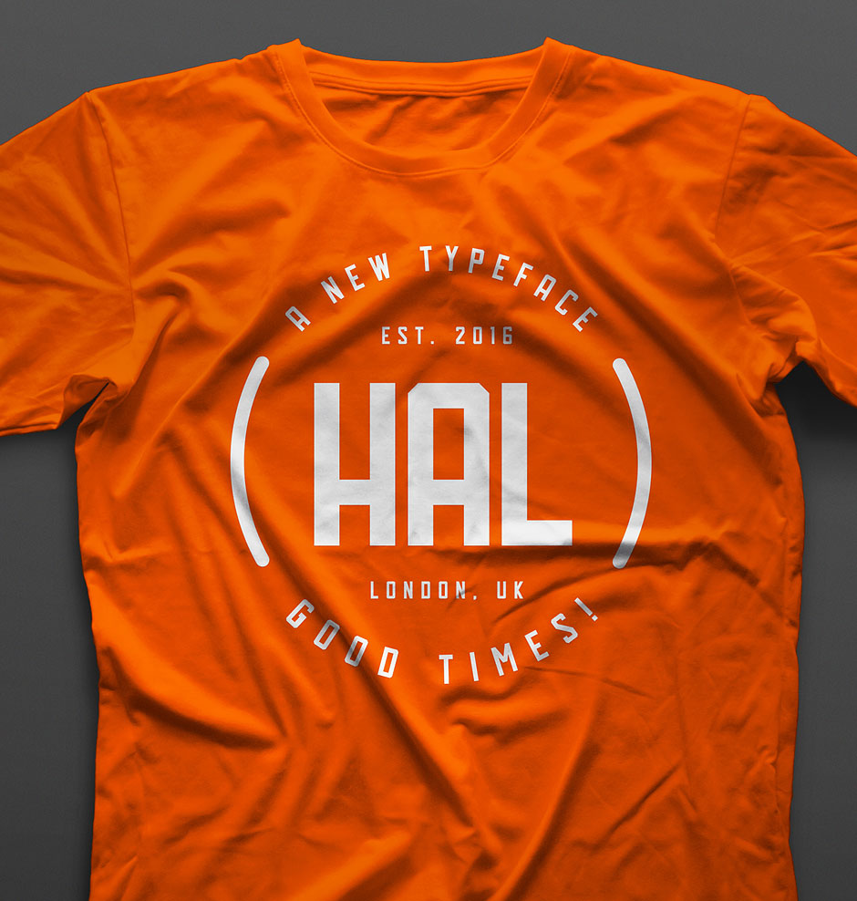 hal-free-font-typeface-typography-t-shirt