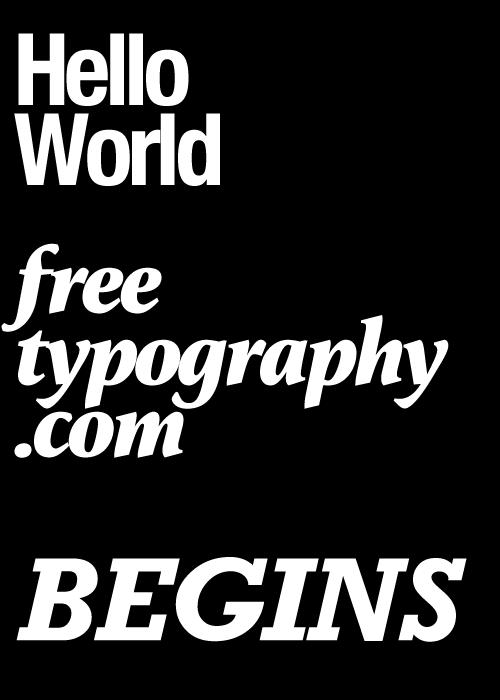 freetypographybegins
