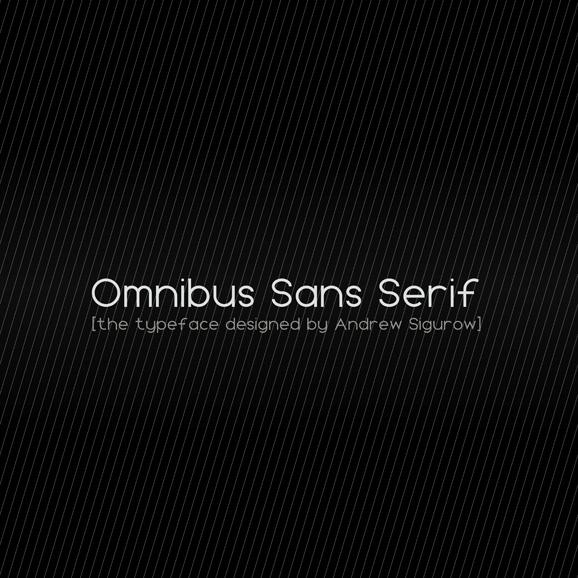Free Font: Omnibus Sans Serif › FreeTypography
