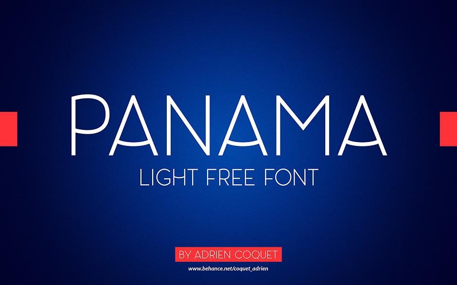 Panama-Light-free-font