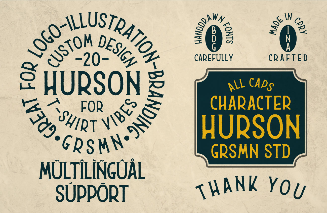 Free Typography Hurson Layout Example