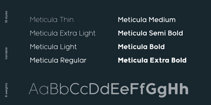 Free Font: Meticula › FreeTypography